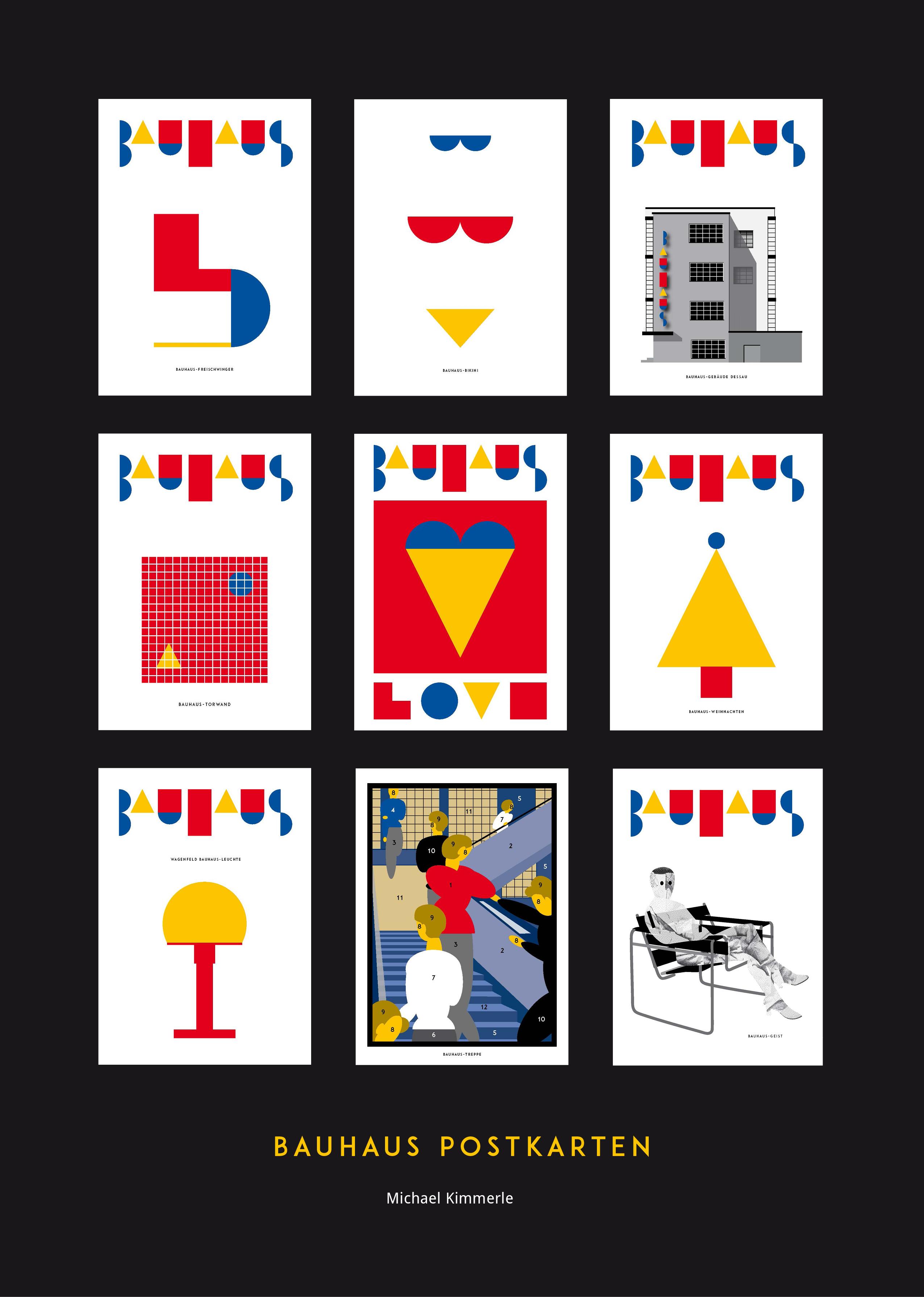 Plakat Bauhaus Postkarten